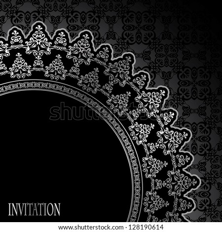 Seamless background with an elegant frame in retro style - stock vector