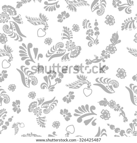 seamless background with an ornament, vector illustration