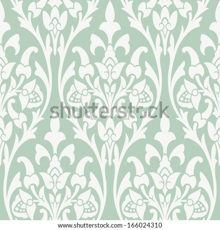Seamless background with beige ornaments  - stock vector