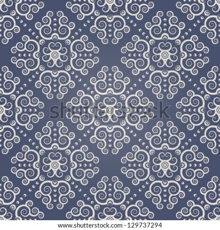 Seamless background with beige ornaments. EPS 10. - stock vector