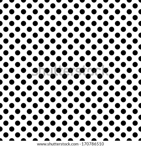 seamless background with black dots - stock vector