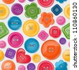 Seamless background with colorful buttons. EPS 10 vector illustration. - stock photo
