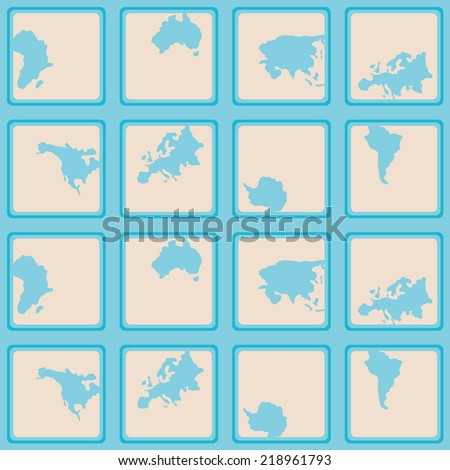 seamless background with continents and parts of the world