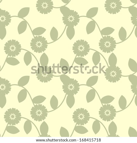 Seamless background with decorative pattern - stock vector