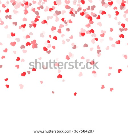 seamless background with different colored confetti hearts for valentine time