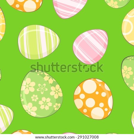 Seamless background with Easter eggs - stock vector