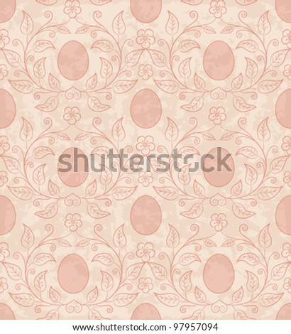 Seamless background with Easter eggs. - stock vector