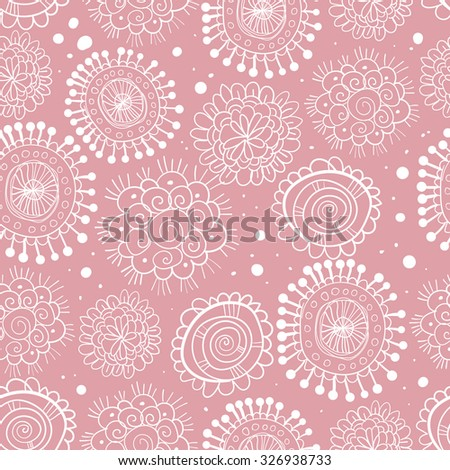 Seamless background with floral elements. Vector illustration.