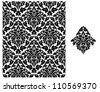 Seamless background with floral pattern for design. Jpeg version also available in gallery - stock
