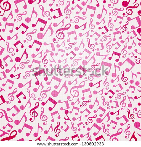 Seamless background with music notes.