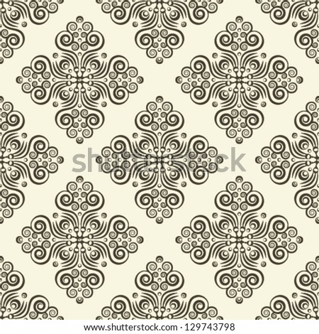 Seamless background with ornament. EPS 10. - stock vector