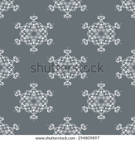 Seamless background with ornament. Vector illustration. Wallpaper pattern