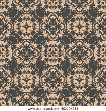 Seamless background with ornament. Wallpaper pattern