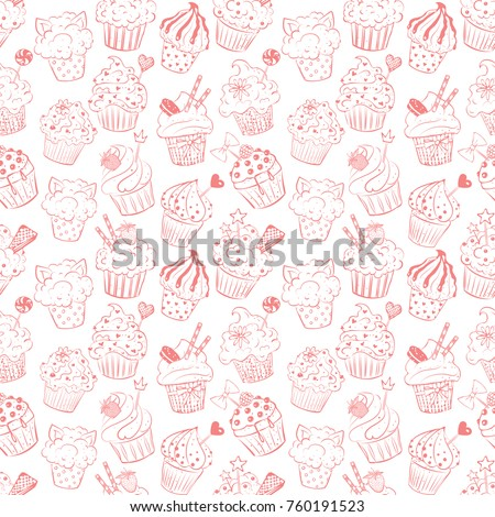 Cupcake Pattern Stock Images Royalty Free Images