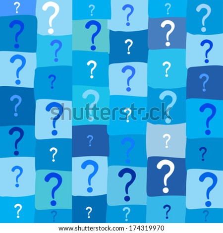 Seamless background with question signs. Vector illustration  - stock vector