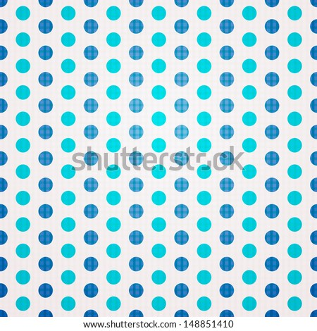 Seamless Background with small Polka Dot pattern - stock vector