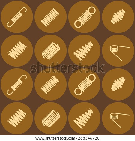 Seamless background with  Springs - stock vector