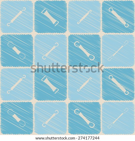 Seamless background with Springs for your design - stock vector