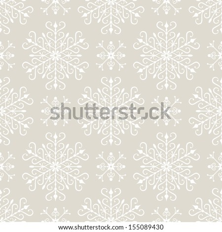 Seamless background with stylized Christmas snowflakes. EPS 8 vector illustration. - stock vector