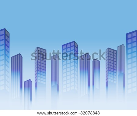 Seamless background with stylized skyscrapers