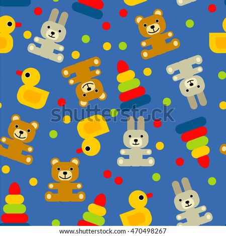 seamless background with toys