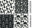 Seamless backgrounds with floral pattern - stock