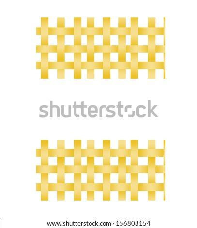 seamless basket weave - stock vector