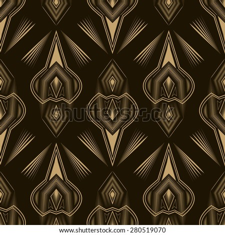 Seamless beautiful antique lace pattern monochrome ornament. Geometric background design. Vector repeating texture. - stock vector