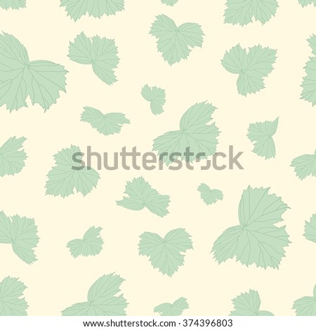 Seamless beautiful background of green leaves