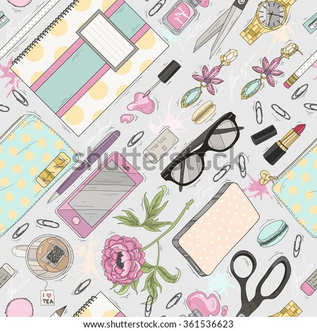Seamless beauty pattern with make up. Cute seamless office pattern, pattern, pattern, pattern, pattern, pattern, pattern, pattern, pattern, pattern, pattern, pattern, pattern, pattern, pattern