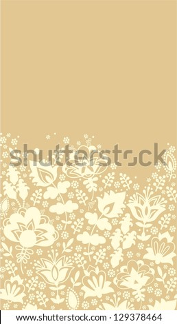 seamless beige contour drawing - stock vector