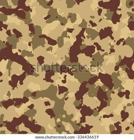 Seamless Beige Desert Fashion Camouflage Pattern Vector