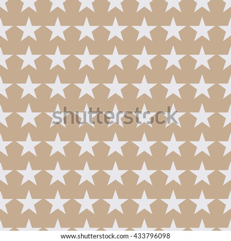 Seamless beige fashion stars pattern vector