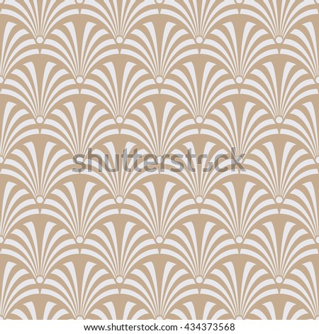 Seamless beige luxury art deco peacock textile pattern vector