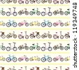 seamless bicycle pattern - stock vector