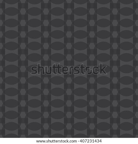 Seamless black and white abstract modern pattern created from circles