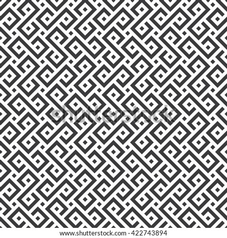 Seamless black and white african ethnic geometric pattern vector