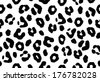 Seamless black and white animal skin texture  - stock vector