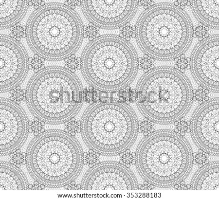 Seamless black and white background, texture, vector
