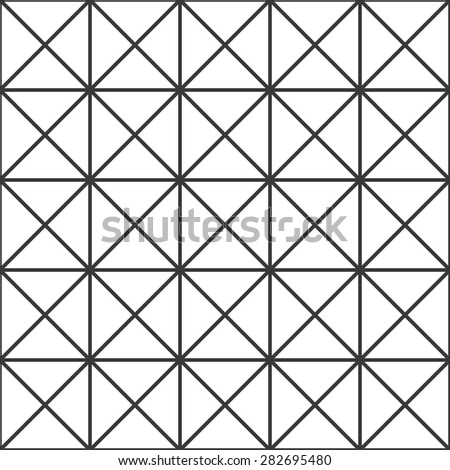 Seamless black and white crossed squares op art pattern vector