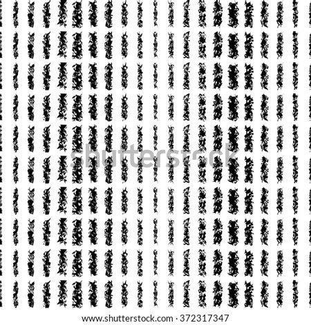 Seamless black and white decorative vector background with with stripes. Print. Repeating background. Cloth design, wallpaper.