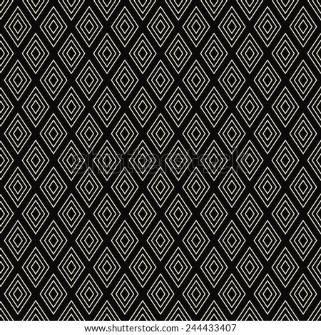 seamless black and white diamond outline pattern.