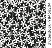 Seamless black and white floral pattern. Vector illustration - stock vector