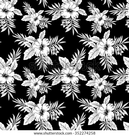 Black and white floral designs stock images royalty free - Flower black and white design ...