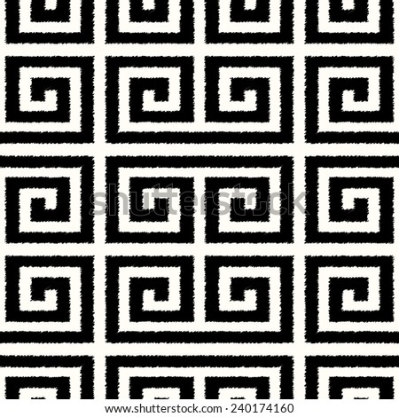 seamless black and white mesh scribble textured pattern - stock vector