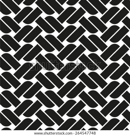 Seamless black and white  pattern vector - stock vector