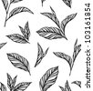 Seamless black-and-white pattern with leaves in vintage style. Background for your design wallpapers, pattern fills, web page, surface textures - stock vector