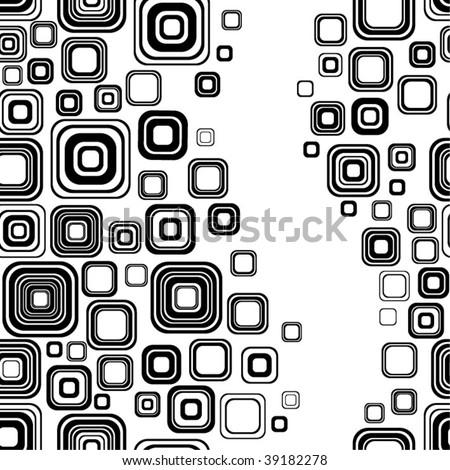 Seamless black-and-white retro pattern - stock vector