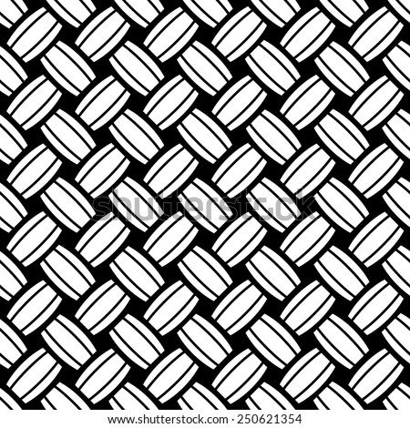 Seamless black and white weave texture  - stock vector