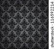 Seamless black luxury pattern/background - stock vector